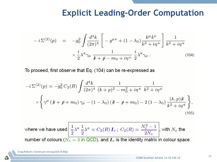 Explicit Leading-Order Computation