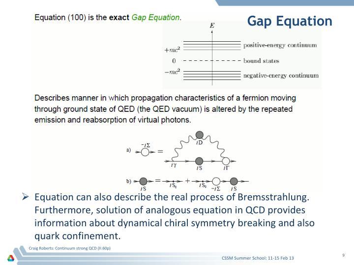 Gap Equation