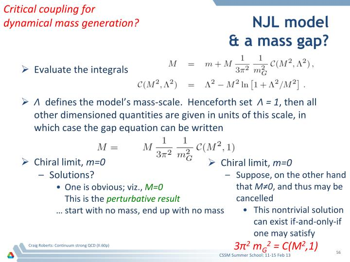 Critical coupling for dynamical mass generation?