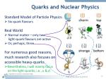 quarks and nuclear physics