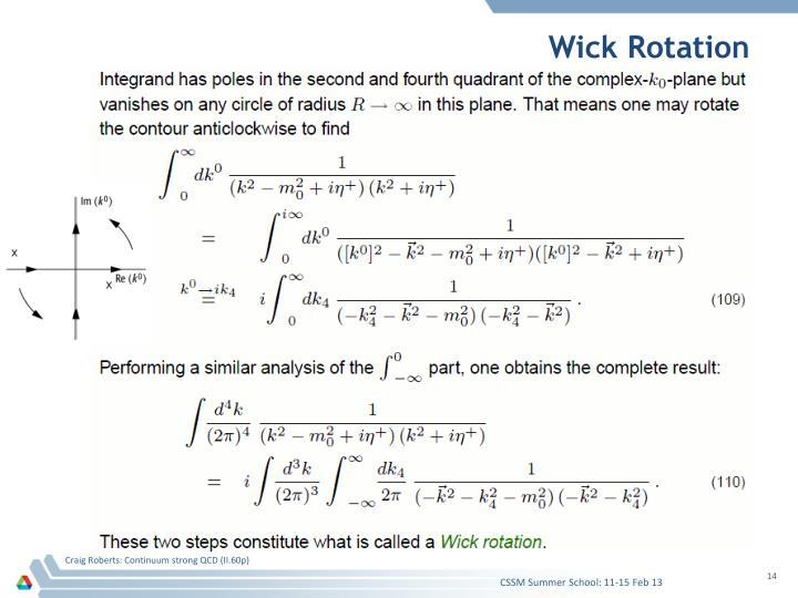 Wick Rotation