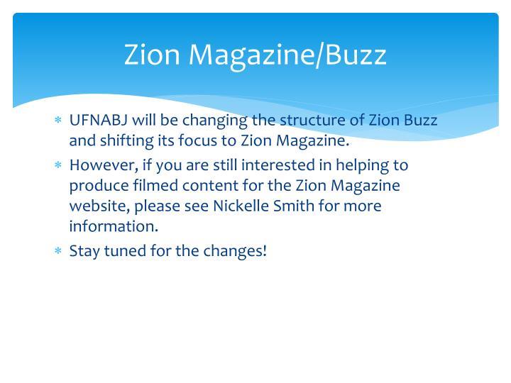 Zion Magazine/Buzz