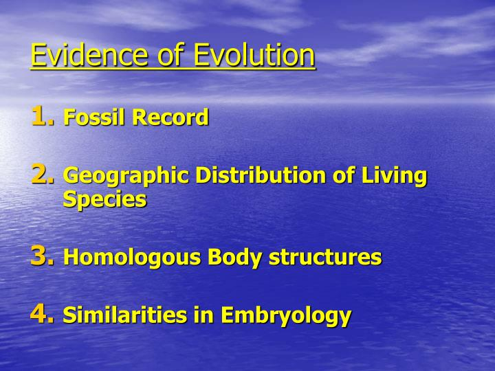 Evidence of Evolution
