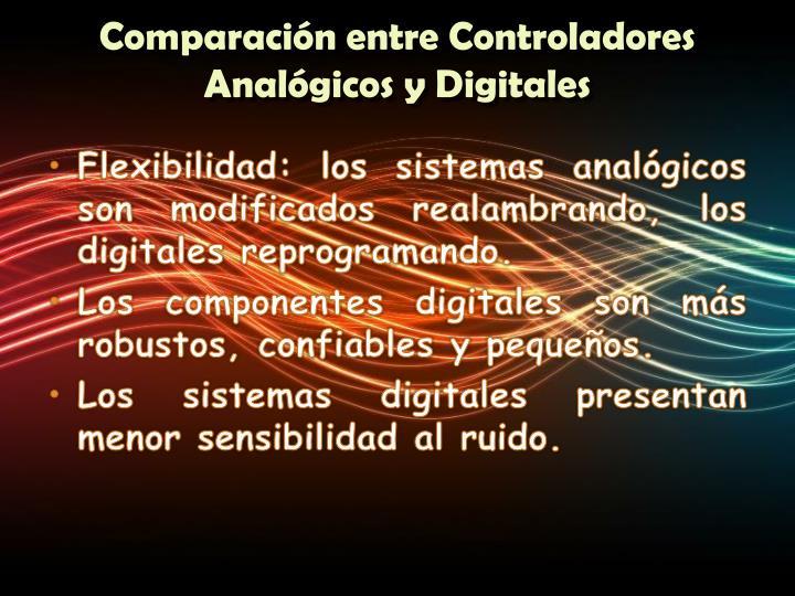 Comparación entre Controladores Analógicos y Digitales