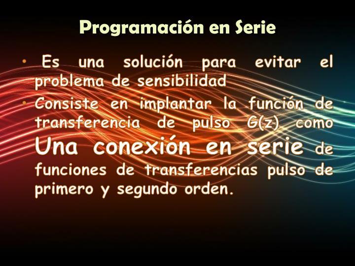 Programación en Serie