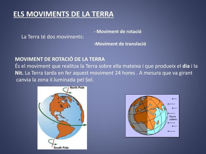 ELS MOVIMENTS DE LA TERRA