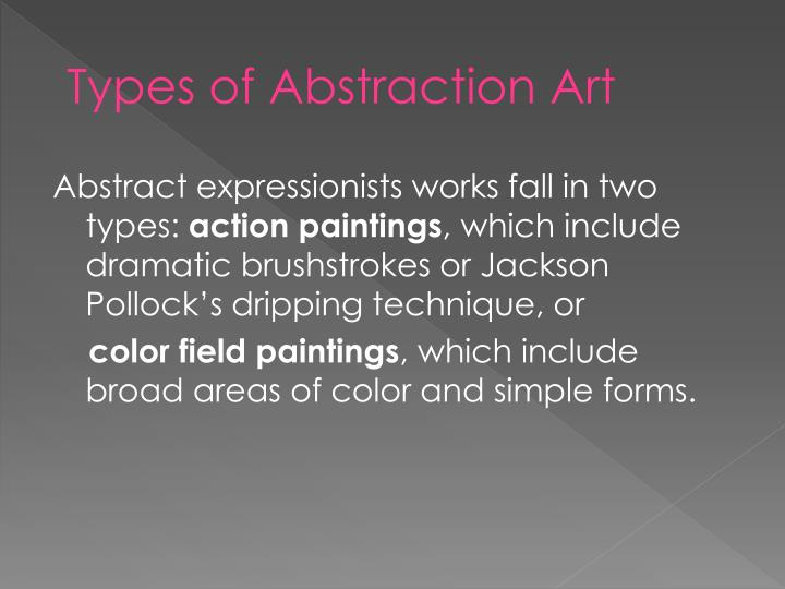 Types of Abstraction Art