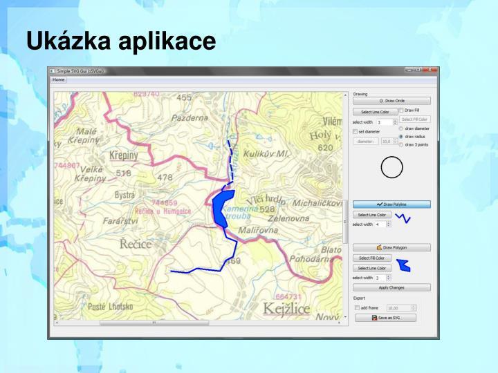 Ukázka aplikace