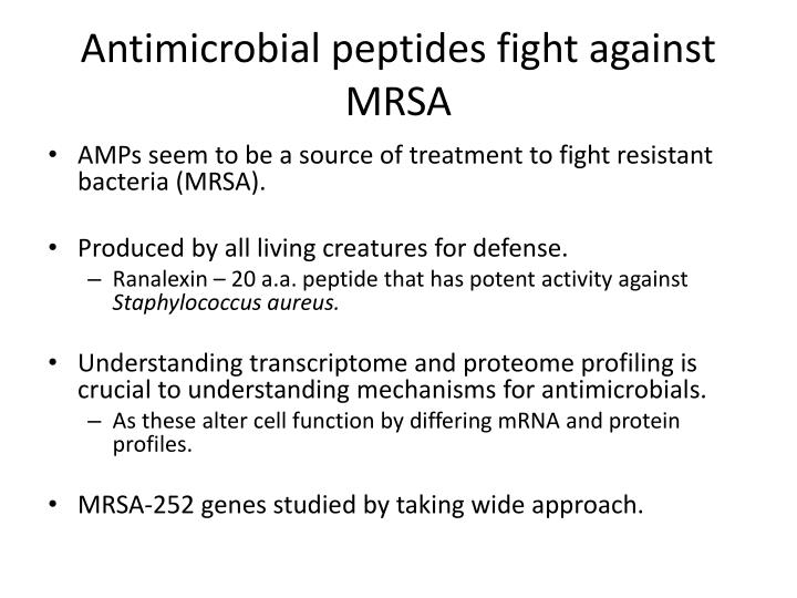 Antimicrobial peptides fight against MRSA
