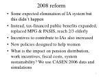2008 reform
