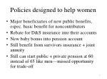 policies designed to help women