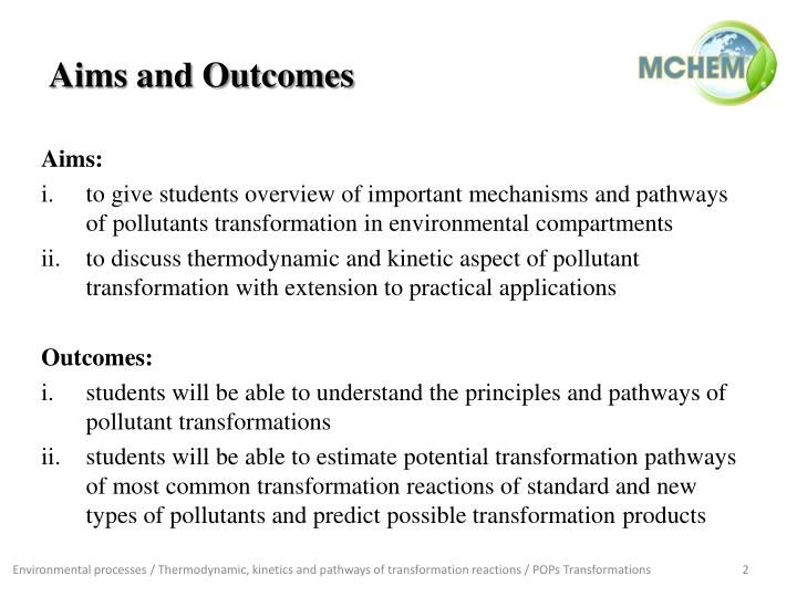Aims and Outcomes