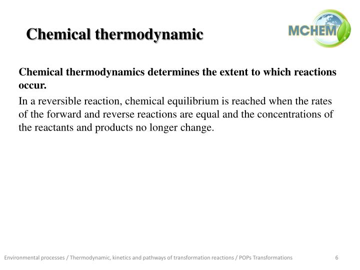 Chemical thermodynamic