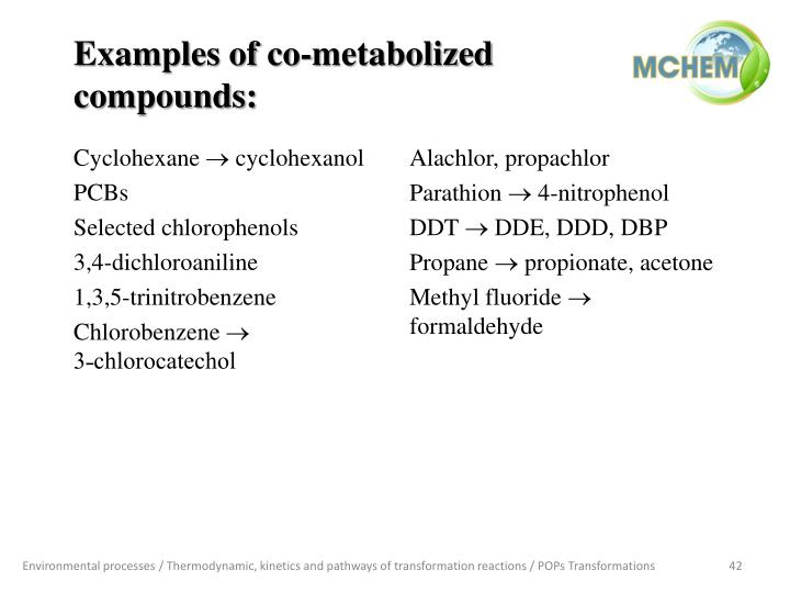 Examples of co-metabolized compounds: