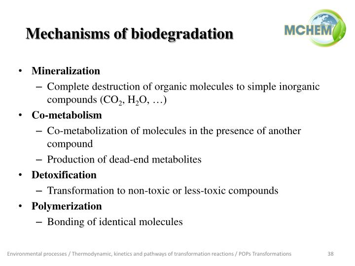 Mechanisms of biodegradation