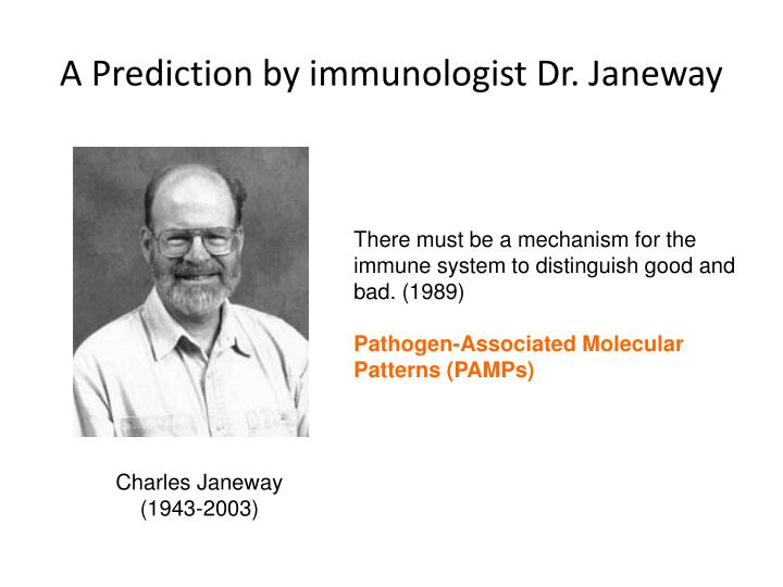 A Prediction by immunologist Dr.