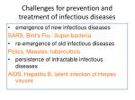 challenges for prevention and treatment of infectious diseases