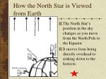 how the north star is viewed from earth