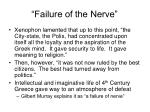 failure of the nerve