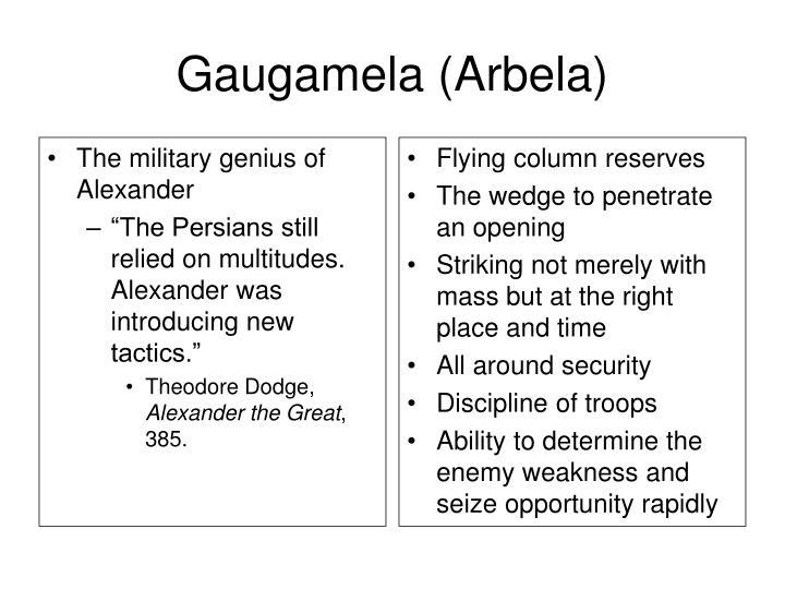The military genius of Alexander