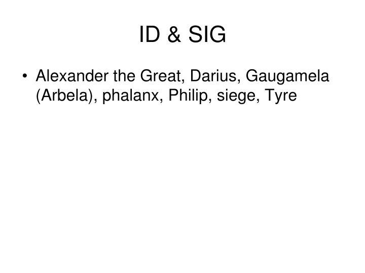 ID & SIG
