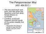 the peloponnesian war 431 404 b c
