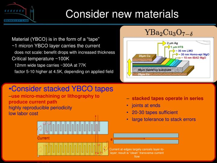 Consider stacked YBCO tapes