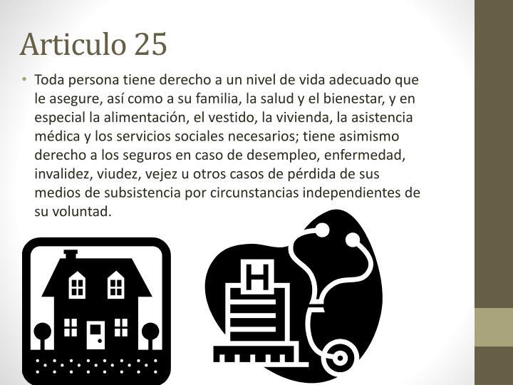 Articulo 25