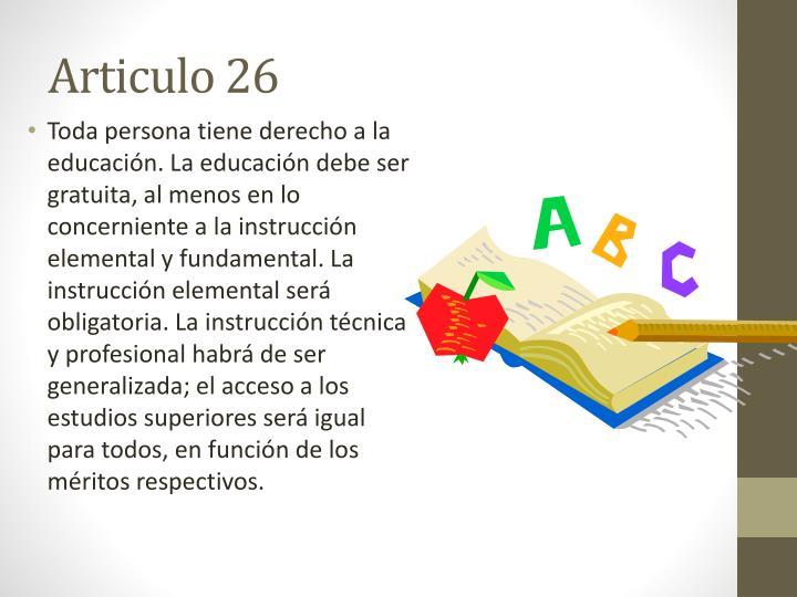 Articulo 26