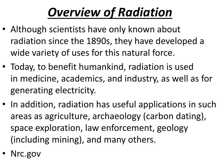 Overview of Radiation