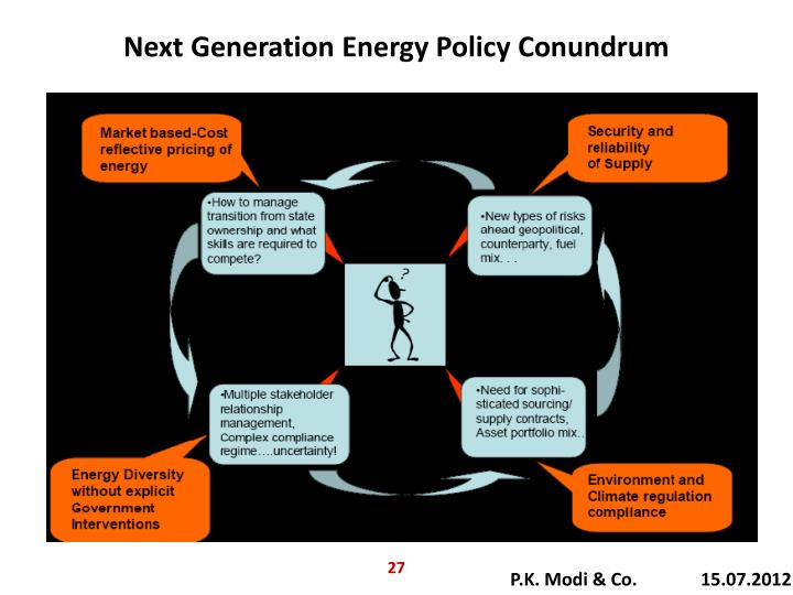 Next Generation Energy Policy Conundrum