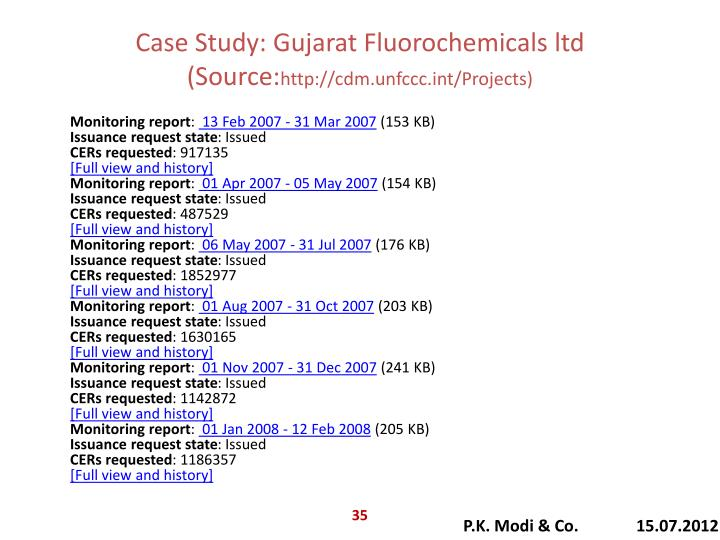 Case Study: Gujarat Fluorochemicals ltd