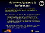 acknowledgements references