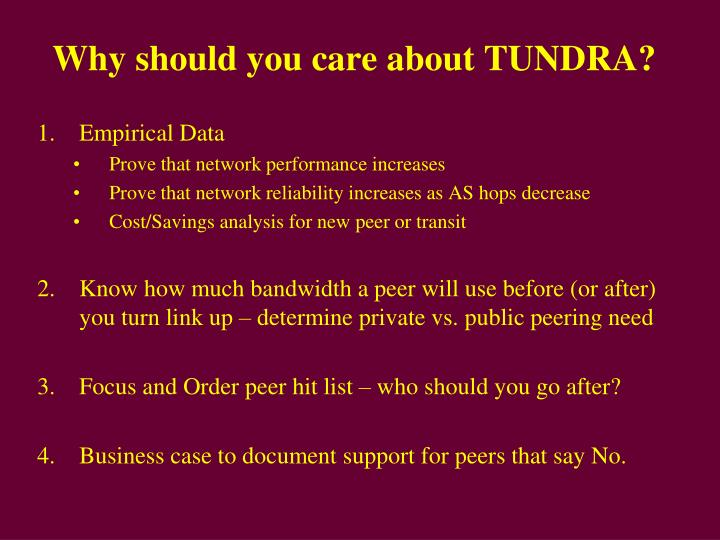 Why should you care about tundra