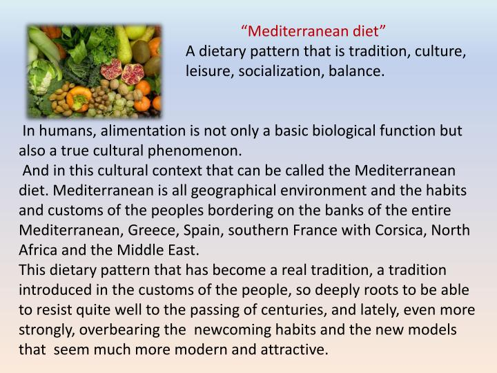 """""""Mediterranean diet"""""""