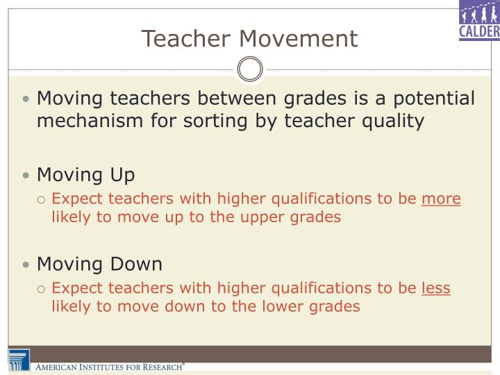 Teacher Movement
