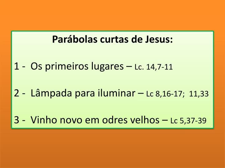 Parábolas curtas de Jesus:
