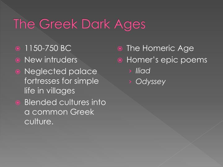 The Greek Dark Ages