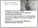 gypsy rose lee 1 8 1911 4 26 1970
