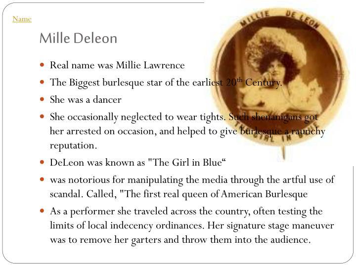 Mille Deleon