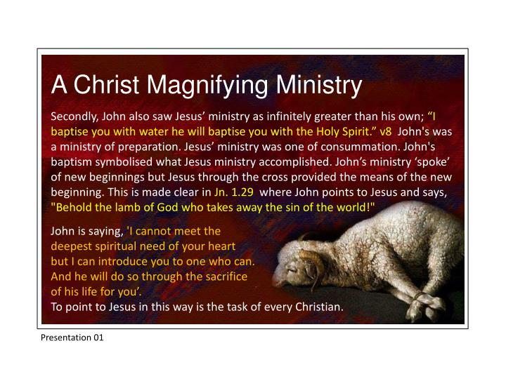 A Christ Magnifying Ministry