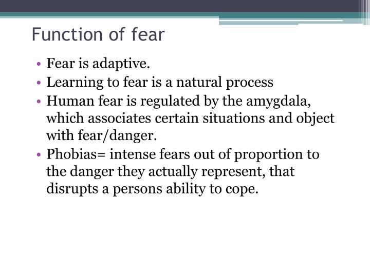 Function of fear