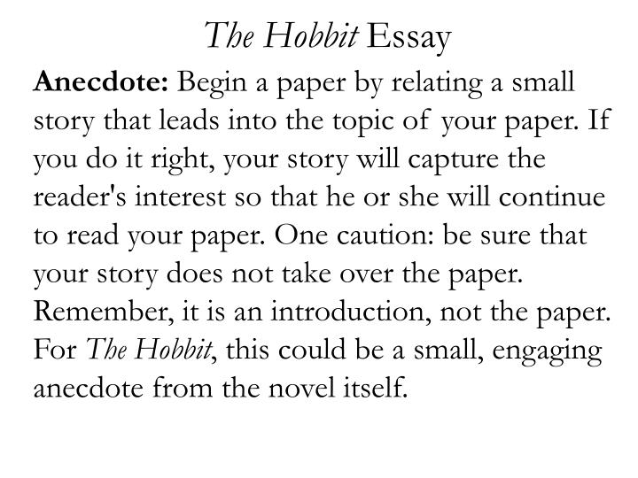 The hobbit essay1