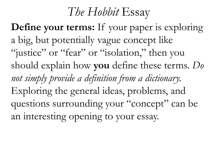 The hobbit essay2