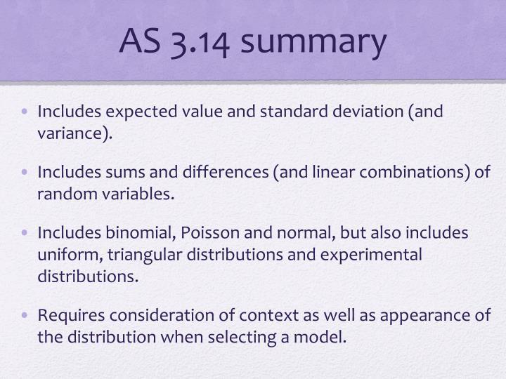 AS 3.14 summary