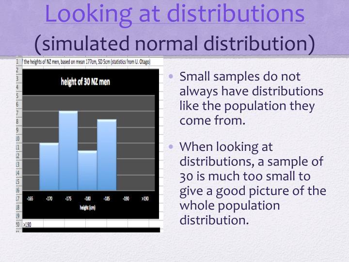 Looking at distributions