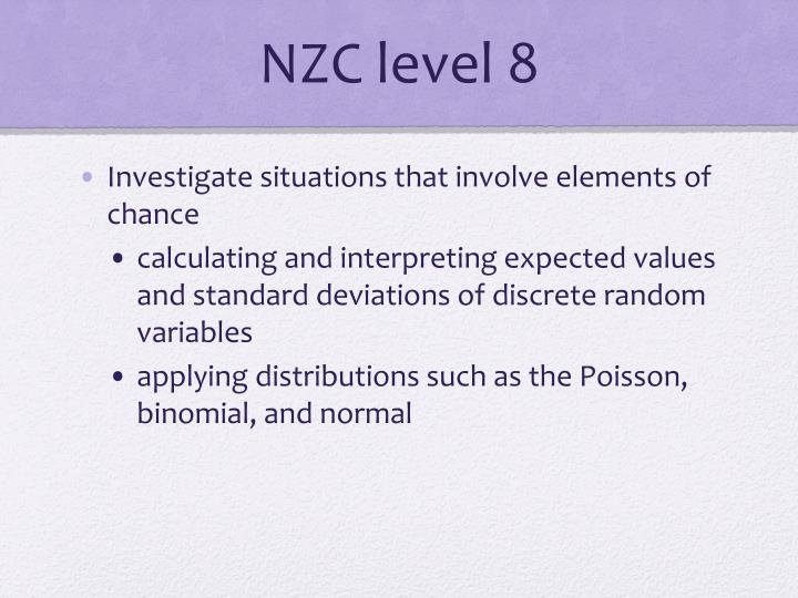 NZC level 8