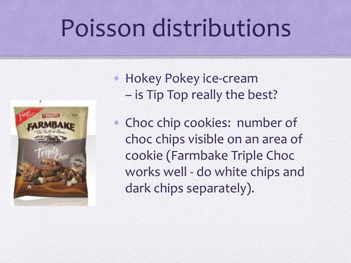 Poisson distributions