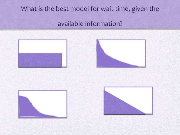 What is the best model for wait time, given the available information?