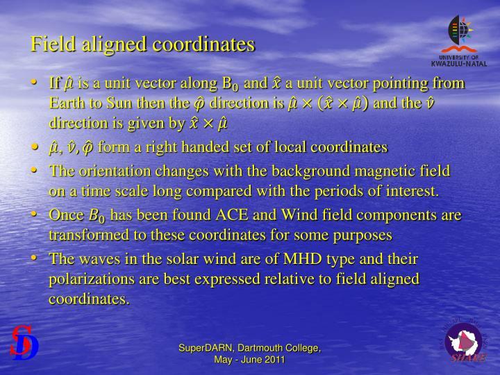 Field aligned coordinates